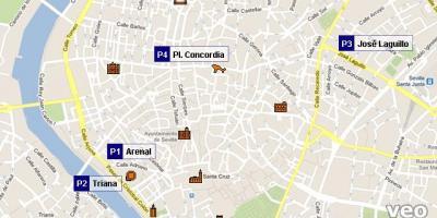 إشبيلية خريطة خرائط إشبيلية (الأندلس - إسبانيا)